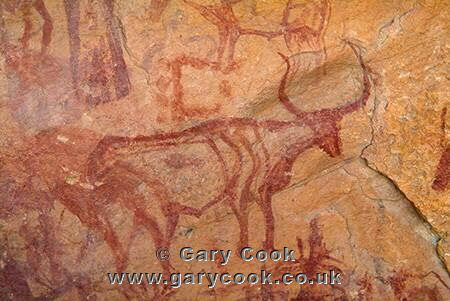 Rock paintings, Jebel Acacus, Sahara Desert, Libya